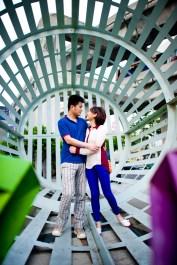 Bangkok, Thailand - Engagement photo of a wedding couple from China.