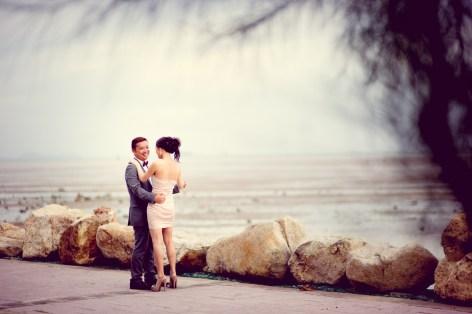 Phuket, Thailand - Engagement photo of a wedding couple from Hong Kong taken at a viewpoint in Phuket.