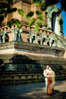 Wat Chedi Luang Worawihan - Thailand Wedding Photographer - Professional Wedding Photography Service