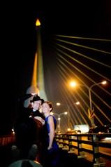 Post-Wedding session on Rama VIII bridge in Bangkok, Thailand. NET-Photography | Thailand Wedding Photographer info@thailand-wedding-photographer.com http://thailand-wedding-photographer.com