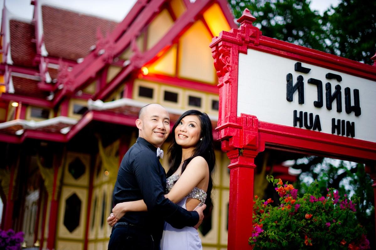 Hua Hin Thailand Pre-Wedding (Engagement Session): Yaiya Resort - Railway Station - Night Market