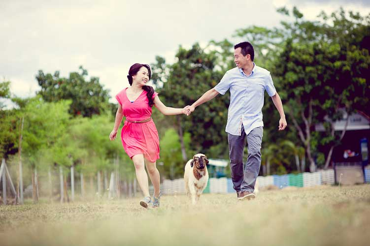 Pre-Wedding Session in Khao Yai and Bangkok: The House – Palio – Sheepland – Rama VIII Bridge – Anantasamakom Throne Hall