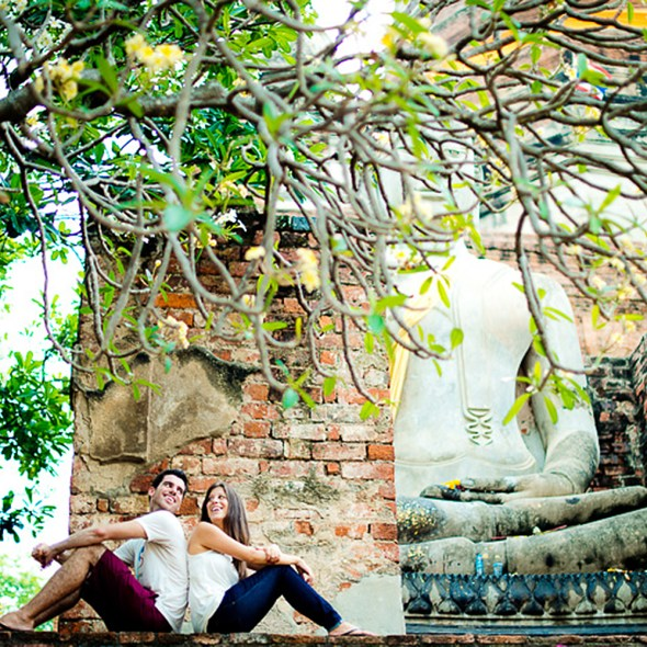 Ayutthaya Wedding Photographer - Pre-Wedding (Engagement) picture of a couple from US and Canada. This picture was taken at a temple in Ayutthaya, Thailand. http://thailand-wedding-photographer.com/ Thailand Professional Wedding Photographer Contact us at info@net-photography.com tel/Line/WhatsApp +66892002131 Thailand Professional Wedding Photographer Bangkok - Ayutthaya - Phuket - Samui - Pattaya - Hua Hin - Cha Am