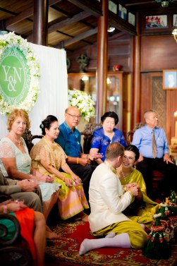 Bowling and Nick's M.R. Kukrit's House wedding in Bangkok, Thailand. M.R. Kukrit's House_Bangkok_wedding_photographer_Bowling and Nick_1579.TIF