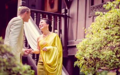 Bowling and Nick's Bangkok Wedding at M.R. Kukrit's House