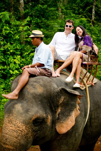 Tarinee and Dyson's Nosey Parker's Elephant Camp pre-wedding (prenuptial, engagement session) in Krabi, Thailand. Nosey Parker's Elephant Camp_Krabi_wedding_photographer_Tarinee and Dyson_1837.TIF