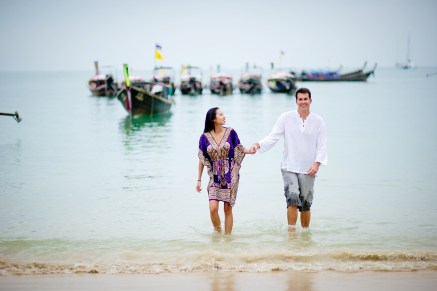 Tarinee and Dyson's Railay Beach pre-wedding (prenuptial, engagement session) in Krabi, Thailand. Railay Beach_Krabi_wedding_photographer_Tarinee and Dyson_1872.TIF