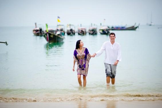 Tarinee and Dyson's Railay Beach pre-wedding (prenuptial, engagement session) in Krabi, Thailand. Railay Beach_Krabi_wedding_photographer_Tarinee and Dyson_1872.TIF