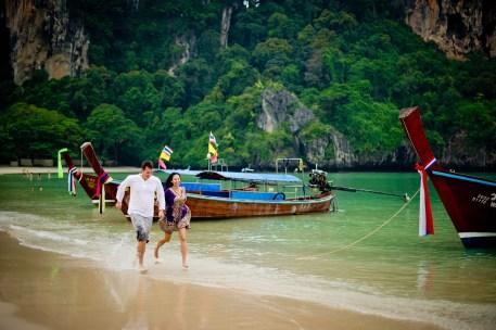 Tarinee and Dyson's Railay Beach pre-wedding (prenuptial, engagement session) in Krabi, Thailand. Railay Beach_Krabi_wedding_photographer_Tarinee and Dyson_1874.TIF