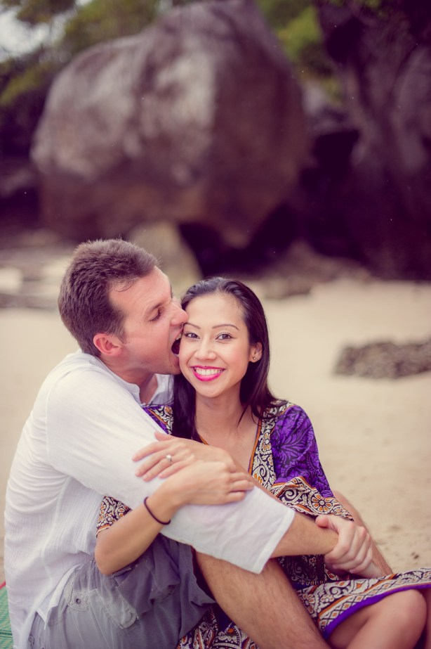 Tarinee and Dyson's Railay Beach pre-wedding (prenuptial, engagement session) in Krabi, Thailand. Railay Beach_Krabi_wedding_photographer_Tarinee and Dyson_1879.TIF