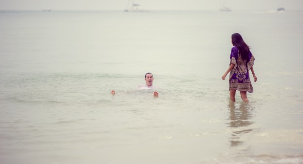 Tarinee and Dyson's Railay Beach pre-wedding (prenuptial, engagement session) in Krabi, Thailand. Railay Beach_Krabi_wedding_photographer_Tarinee and Dyson_1882.TIF