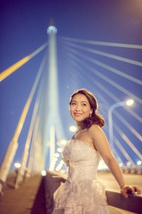Edith and Joe's Rama VIII Bridge pre-wedding (prenuptial, engagement session) in Bangkok, Thailand. Rama VIII Bridge_Bangkok_wedding_photographer_Edith and Joe_1574.JPG