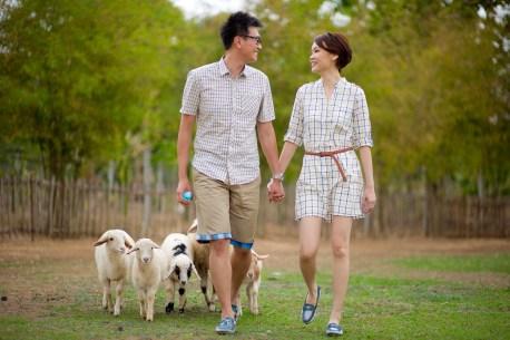 Si'En and Lai's Sheep Land Khao Yai pre-wedding (prenuptial, engagement session) in Khao Yai, Thailand. Sheep Land Khao Yai_Khao Yai_wedding_photographer_Si'En and Lai_0235.TIF