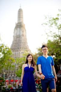 Yuchen and Wenquan's Wat Arun pre-wedding (prenuptial, engagement session) in Bangkok , Thailand. Wat Arun_Bangkok _wedding_photographer_Yuchen and Wenquan_0363.TIF