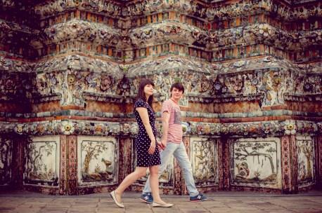 Tatiana and Alex's Wat Arun pre-wedding (prenuptial, engagement session) in Bangkok, Thailand. Wat Arun_Bangkok_wedding_photographer__1363.TIF