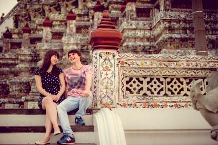 Tatiana and Alex's Wat Arun pre-wedding (prenuptial, engagement session) in Bangkok, Thailand. Wat Arun_Bangkok_wedding_photographer__1367.TIF