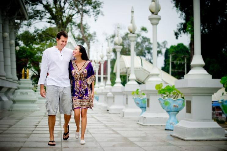 Tarinee and Dyson's Wat Kaew Korawaram pre-wedding (prenuptial, engagement session) in Krabi, Thailand. Wat Kaew Korawaram_Krabi_wedding_photographer_Tarinee and Dyson_1847.TIF