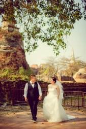 Yoko and Tor's Wat Phra Si Sanphet pre-wedding (prenuptial, engagement session) in Ayutthaya, Thailand. Wat Phra Si Sanphet_Ayutthaya_wedding_photographer_Yoko and Tor_0332.TIF