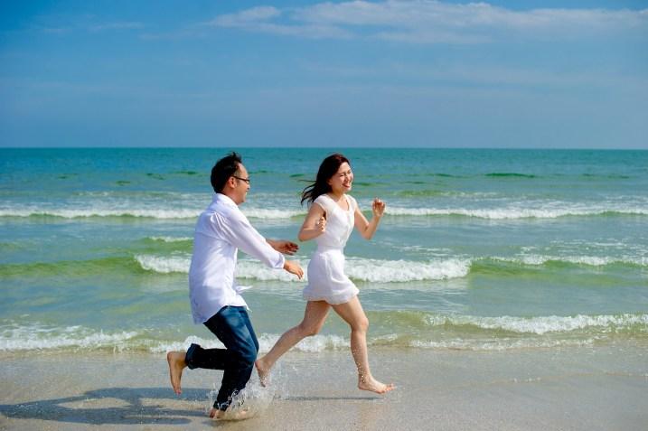 Hua Hin, Thailand - Pre-Wedding (Engagement) photo taken at a beach in Hua Hin, Thailand.