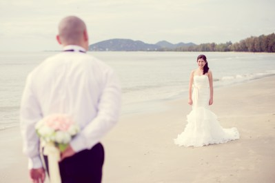 Hua Hin, Thailand - (Engagement Session) Pre-Wedding photo taken on beach in Hua Hin, Thailand.
