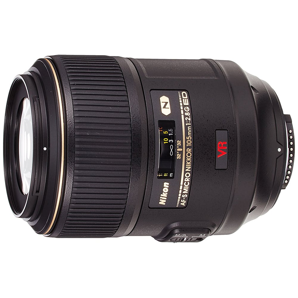 Nikon AF-S VR Micro-NIKKOR 105mm f/2.8G IF-ED Vibration Reduction Fixed Lens with Auto Focus for Nikon DSLR Cameras