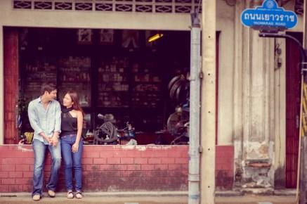 Rachel and Michael's Phuket Town pre-wedding (prenuptial, engagement session) in Phuket, Thailand. Phuket Town_Phuket_wedding_photographer_Rachel and Michael_53.TIF