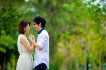 Amy and Kong's Rod Fai Park pre-wedding (prenuptial, engagement session) in Bangkok, Thailand. Rod Fai Park_Bangkok_wedding_photographer_Amy and Kong_150.TIF