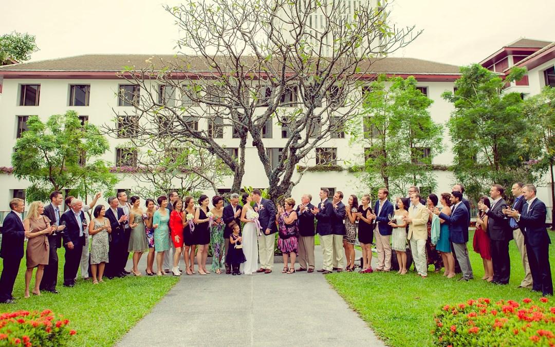 The Sukhothai Bangkok Wedding: Heather and Steve from Malaysia