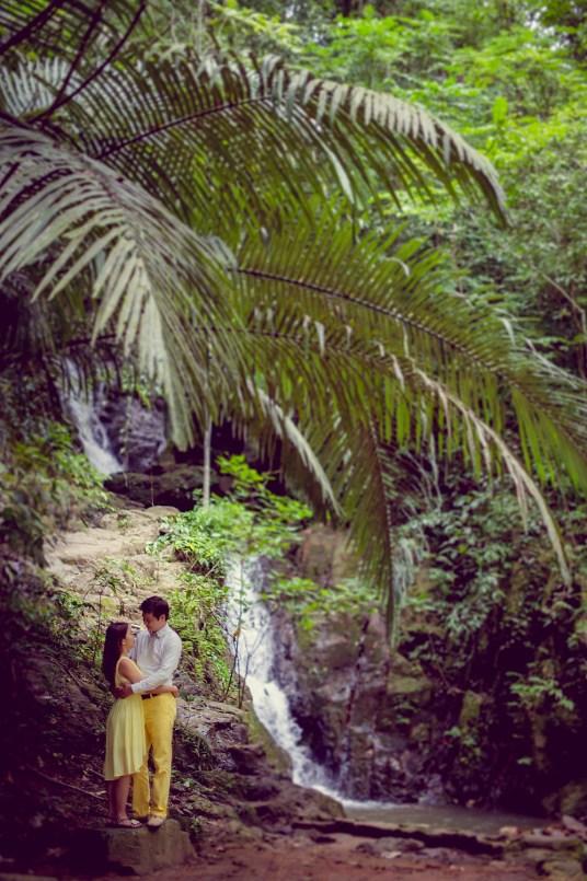 Rachel and Michael's Ton Sai Waterfall pre-wedding (prenuptial, engagement session) in Phuket, Thailand. Ton Sai Waterfall_Phuket_wedding_photographer_Rachel and Michael_44.TIF
