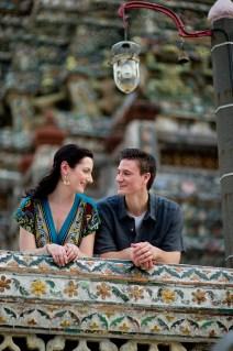 Kristine and Kent's Wat Arun pre-wedding (prenuptial, engagement session) in Bangkok, Thailand. Wat Arun_Bangkok_wedding_photographer_Kristine and Kent_250.TIF
