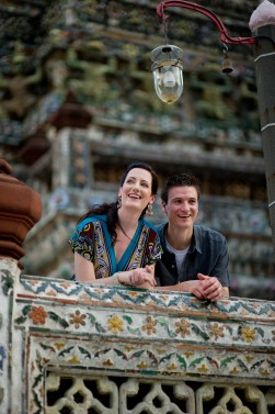 Kristine and Kent's Wat Arun pre-wedding (prenuptial, engagement session) in Bangkok, Thailand. Wat Arun_Bangkok_wedding_photographer_Kristine and Kent_251.TIF