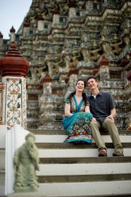 Kristine and Kent's Wat Arun pre-wedding (prenuptial, engagement session) in Bangkok, Thailand. Wat Arun_Bangkok_wedding_photographer_Kristine and Kent_252.TIF