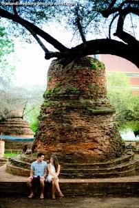 American Couple's Wat Phra Si Sanphet & Ayutthaya Historical Park pre-wedding (prenuptial, engagement session) in Ayutthaya, Thailand. Wat Phra Si Sanphet & Ayutthaya Historical Park_Ayutthaya_wedding_photographer_American Couple_12.JPG