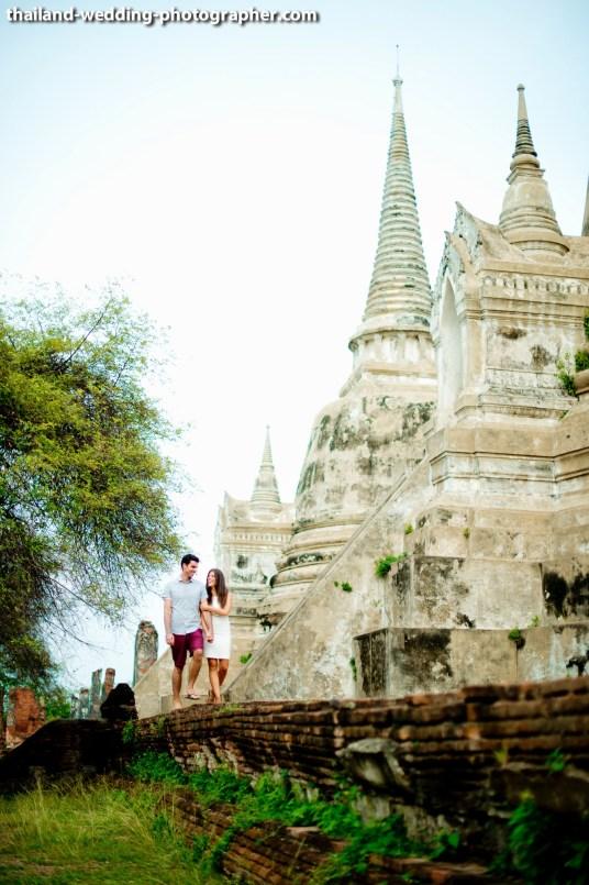 American Couple's Wat Phra Si Sanphet & Ayutthaya Historical Park pre-wedding (prenuptial, engagement session) in Ayutthaya, Thailand. Wat Phra Si Sanphet & Ayutthaya Historical Park_Ayutthaya_wedding_photographer_American Couple_15.JPG