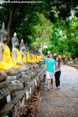 American Couple's Wat Yai Chai Mongkhon pre-wedding (prenuptial, engagement session) in Ayutthaya, Thailand. Wat Yai Chai Mongkhon_Ayutthaya_wedding_photographer_American Couple_02.JPG