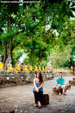 American Couple's Wat Yai Chai Mongkhon pre-wedding (prenuptial, engagement session) in Ayutthaya, Thailand. Wat Yai Chai Mongkhon_Ayutthaya_wedding_photographer_American Couple_03.JPG