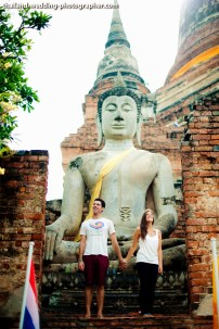 American Couple's Wat Yai Chai Mongkhon pre-wedding (prenuptial, engagement session) in Ayutthaya, Thailand. Wat Yai Chai Mongkhon_Ayutthaya_wedding_photographer_American Couple_07.JPG