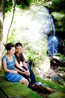 Xiaofen and Eric's Ton Sai Waterfall pre wedding (prenuptial, engagement session) in Phuket, Thailand. Ton Sai Waterfall_Phuket_wedding_photographer_Xiaofen and Eric_16.JPG
