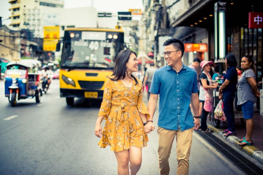Pre-Wedding at China Town in Bangkok Thailand   Bangkok Wedding Photography