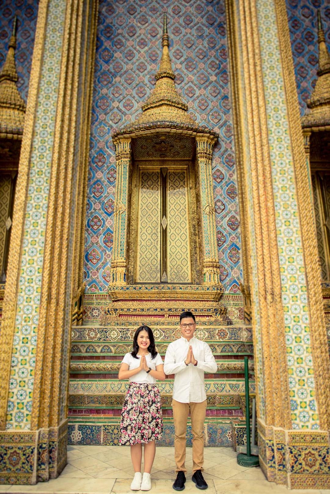 Pre-Wedding at The Grand Palace in Bangkok Thailand   Bangkok Wedding Photography