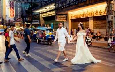 Thailand Bangkok Engagement Session | Siam – Rama VIII Bridge – China Town