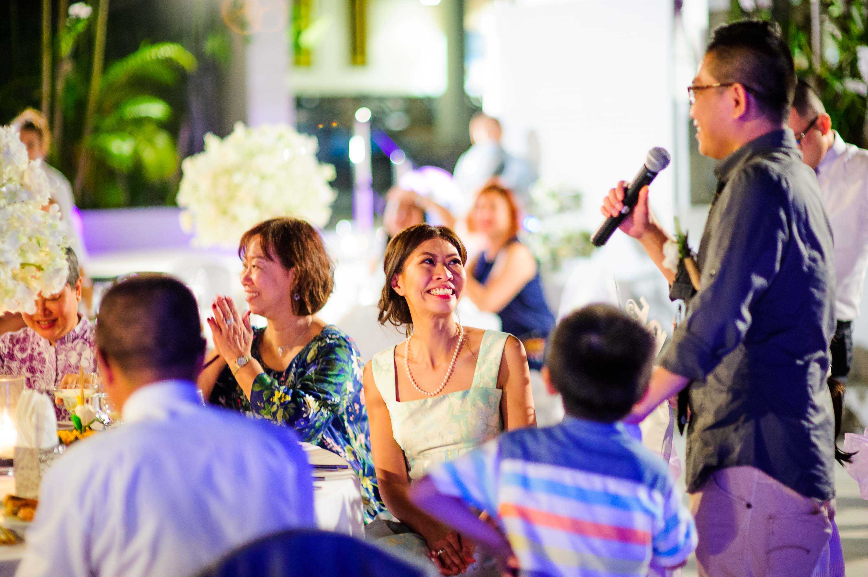 Photo of the Day: Speech from Cape Sienna Hotel & Villas Wedding
