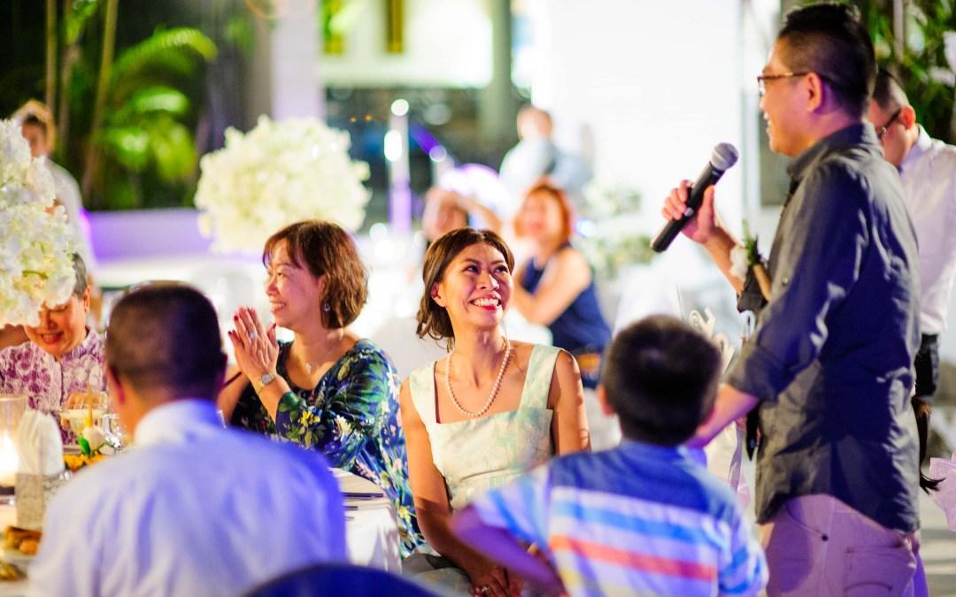 Photo of the Day: Speech from Cape Sienna Hotel & Villas Wedding