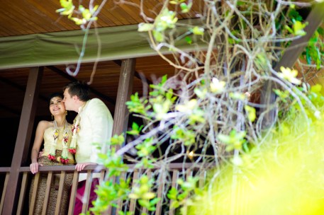 Kissing Photo | Rose Garden Riverside Thailand Wedding Photography