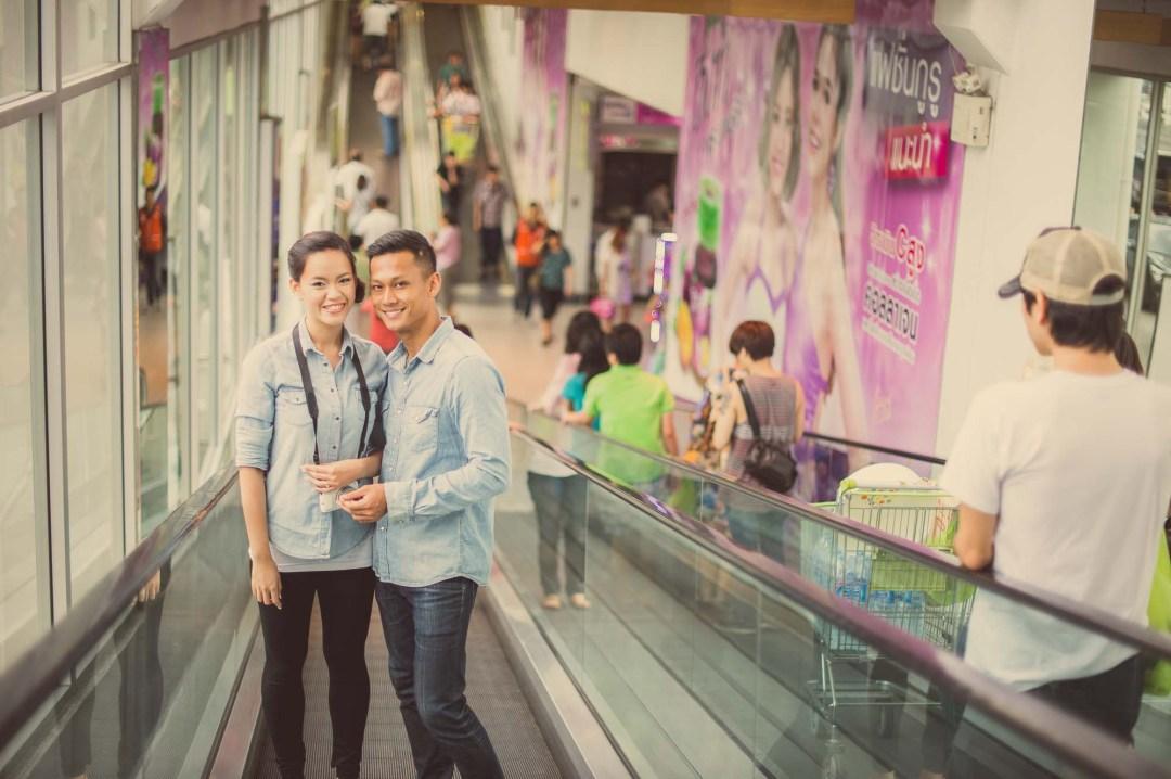 Pre-Wedding at Big C Supermarket in Bangkok Thailand | Bangkok Wedding Photography