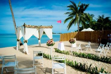 Destination wedding photo taken at Nora Beach Resort & Spa in Koh Samui, Thailand.