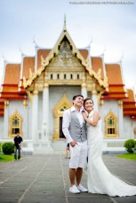 Pre-Wedding session at Marble Temple in Bangkok, Thailand.