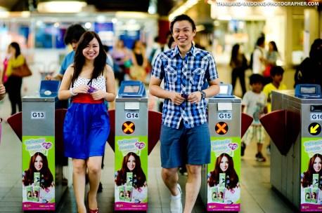 Thailand Bangkok BTS Skytrain Engagement Session