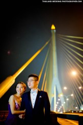 Thailand Bangkok Rama III Suspension Bridge Wedding Photography | NET-Photography Thailand Wedding Photographer