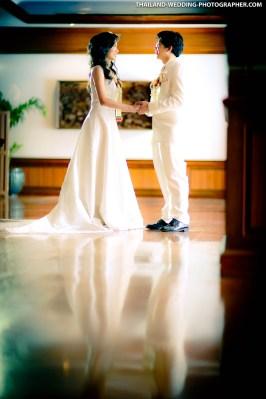 Wedding photo taken at Bangkok Marriott Marquis Queen's Park in Bangkok, Thailand.